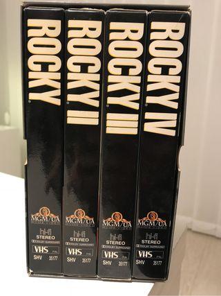 Colección VHS Rocky: I, II, III y IV