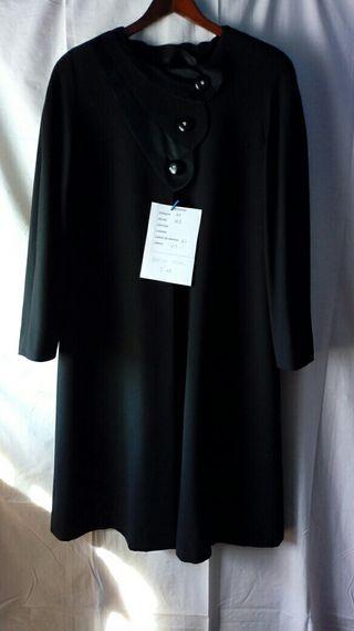 abrigo negro talla 42