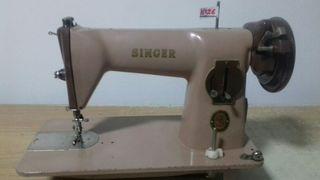 Maquina de coser Singer marron claro