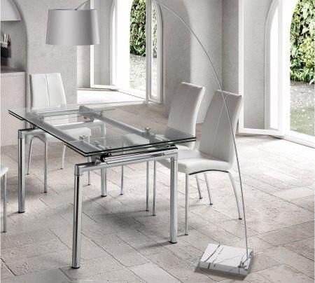 Mesa comedor de vidrio extensible de segunda mano por 120 € en ...
