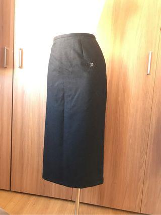 Laserre falda gris en lana y cachemira