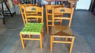 4 sillas cocina
