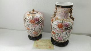 jarrones de porcelana con certificado