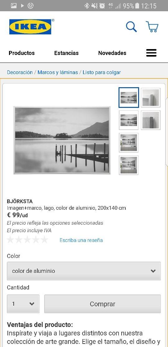 Cuadro IKEA 200x140 precio Ikea 99€ de segunda mano por 60 € en ...