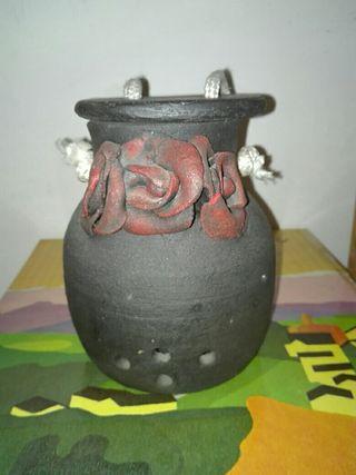 Porta velas. ceramica