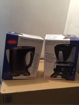 Calentador agua y cafetera