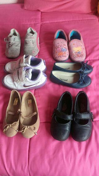 zapatos y zapatillas niña numeto 27.lote 19 euros