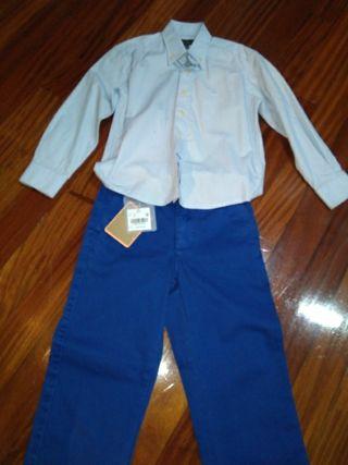 conjunto de camisa y pantalon de niño 6años