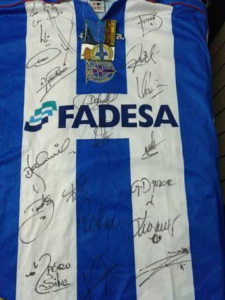 Camiseta Deportivo 2001 firmada