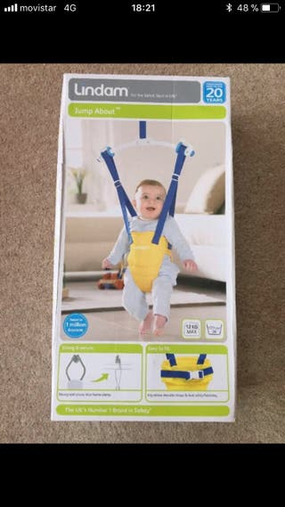 Saltador bebé Lindam (max. 12 kg.)