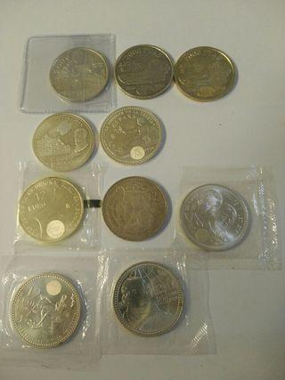 monedas de plata de 12€ y 2000 pesetas 15€/unidad