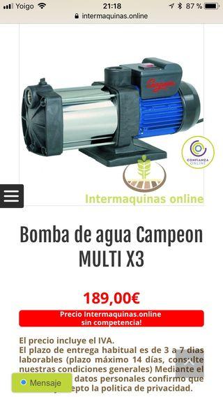 Bomba de agua campeon multi x3