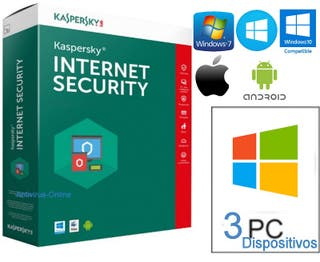 KASPERSKY INTERNET SECURITY 2018 3 PC ANTIVIRUS