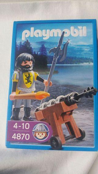 playmobil: caballero con cañón. NUEVO