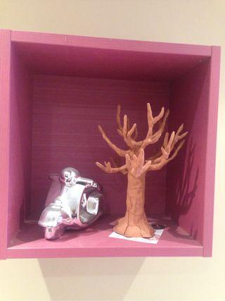 Escultura árbol de arcilla