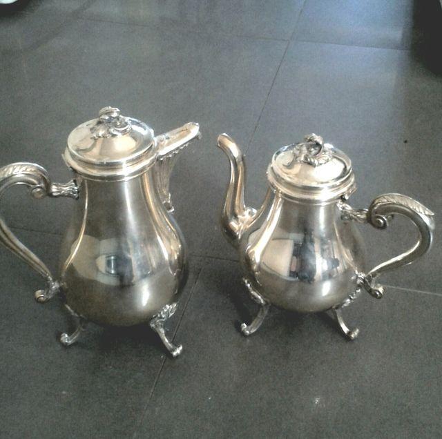 Tetera y cafetera plata Christofle France de segunda mano por 350 ...
