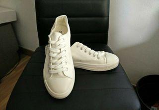 zapatillas tipo converse blancas