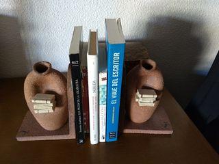Sujetalibros cerámica