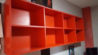 conjunto de escritorio juvenil rojo