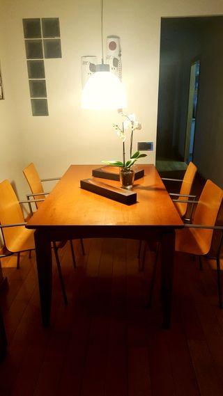 mesa comedor y mesa auxiliar