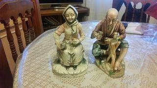 pareja de ancianos cerámica