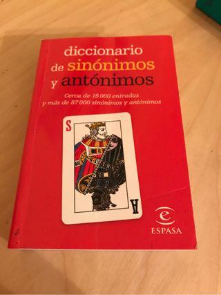 Diccionario sinonimos
