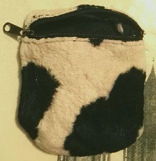 Monedero pequeño estampado vaca