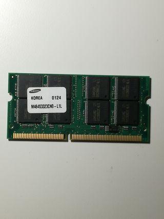 Memoria para portatil 256Mb PC100