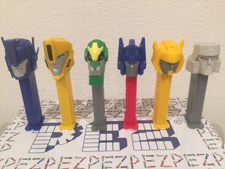 Dispensador caramelos PEZ. Transformers.