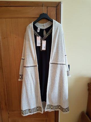 vestido con abrigo sin estrenar