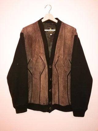 Chaqueta/abrigo cuero vintage oversize