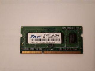 RAM ASint DDR3 1333MHz 1GB