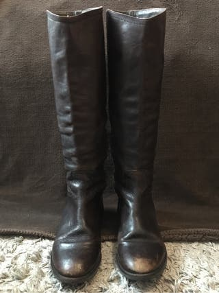 Botas de piel Uterqüe talla 38
