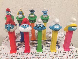 Dispensador caramelos PEZ. The Smurfs.