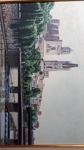 venta o cambio cuadro unico catedral de Girona