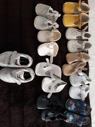 lote zapatos bebe 15 a 19