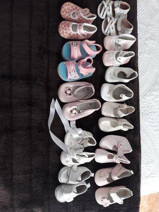 lote zapatos bebe niña 15 a 18
