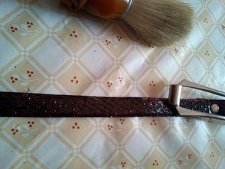 Cinturón Piel de Serpiente Vintage