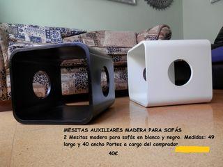 MESITAS AUXILIARES MADERA PARA SOFÁS