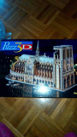 Puzzle 3D de la catedral de Notre dame Paris - 952