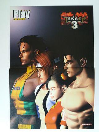 Poster doble de Tekken 3 y Ape Escape PlayMania de segunda mano por