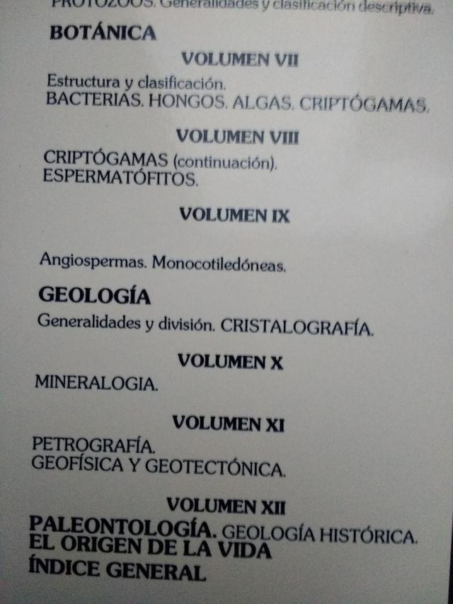 """12 tomos """"historia natural"""" Instituto Gallart"""