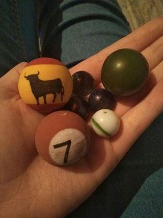 Canicas y pelotas
