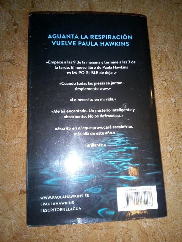 """Libro lectura """"Escrito en el agua"""""""