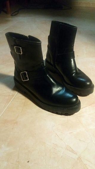 botas mujer tipo motero