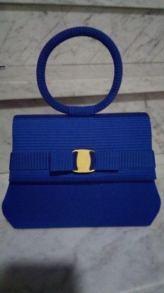 Bolso fiesta azul nuevo + regalo