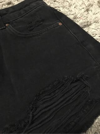Pantalon corto negro topshop