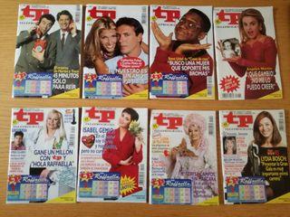 Lote 8 revistas tp teleprograma año 1994.
