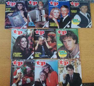 Lote 10 Revistas Revista TP teleprograma año 1987.