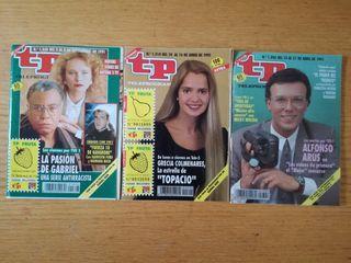Lote de 3 revistas tp teleprograma año 1991.